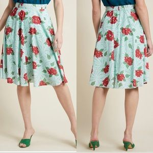 Sale!3/$45 ModCloth This Sway Skirt Mint Floral